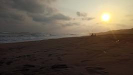 Enjoying the Beauty of Twilight with Love at Parangtritis Beach